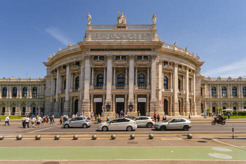 Burgtheater in the historic center of Vienna against sky, Austria - TAM02042
