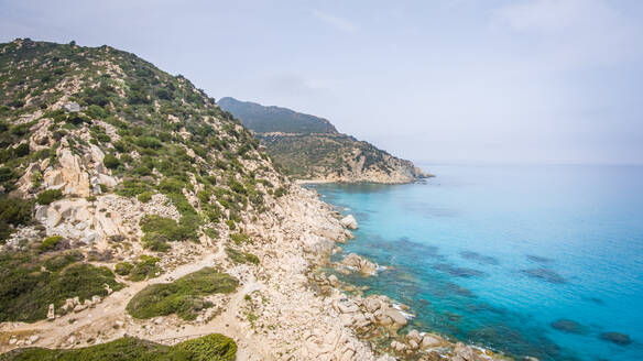 Aerial view of the coast in Sardinia, Italy - AAEF00758