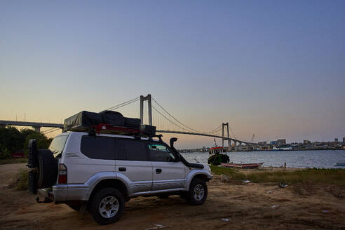 Car with view to the Catembe bridge and Maputo, Mozambique - VEGF00456