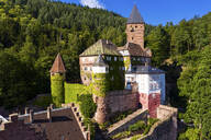 Zwingenberg Castle amidst trees in town, Odenwald, Germany - AM07246