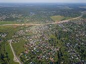 Aerial view of Sergiev Posad town, Moscow, Russia - KNTF03029