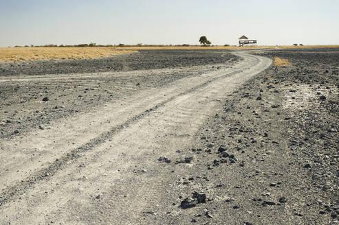 Dirt road, Makgadikgadi Pans, Botswana - VEGF00489