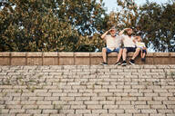 Serbia, Novi Sad, Three generations, Conversation, Summer - ZEDF02560