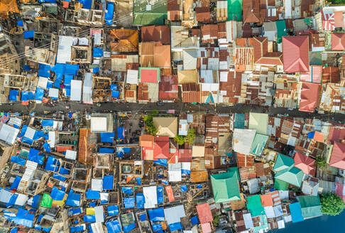 Aerial view of Cebu city residential district, Philippines. - AAEF01821