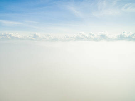 Aerial view of the bright cloudy sky of Estonia - AAEF02044
