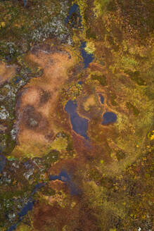Aerial view of beautiful abstract landscape in the reserve of Käsivarsi Wilderness Area in Finland. - AAEF02065