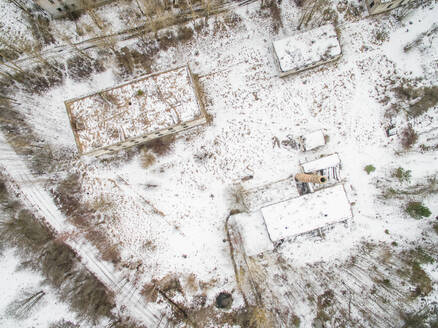 Aerial view of a deserted industrial area in Estonia - AAEF02122