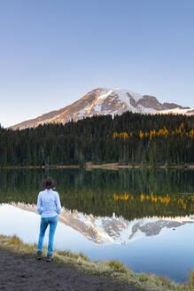 Reflection Lake, Mount Rainier National Park, Washington State, United States of America, North America - RHPLF00210