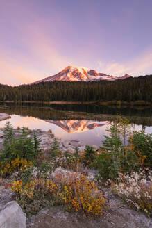 Reflection Lake, Mount Rainier National Park, Washington State, United States of America, North America - RHPLF00213