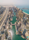 Aerial view of Dubai Marina and the cityscape with skyscrapers, UAE - AAEF02338