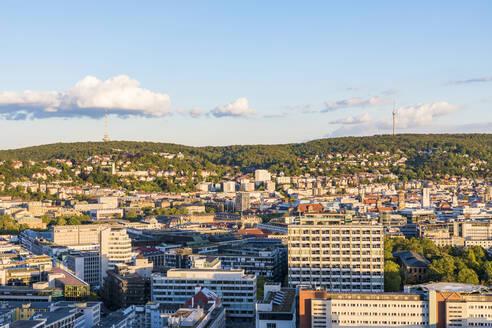Exterior of buildings against sky in Stuttgart, Germany - WDF05397