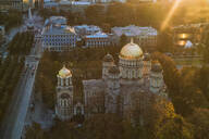 Aerial view of the Russian Church, Riga Nativity of Christ Cathedral, Riga, Latvia - TAMF02085