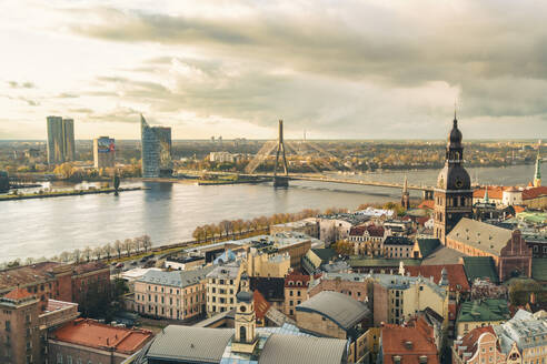 View of the city from above, Riga, Latvia - TAMF02091