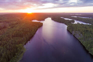 A lake at sunset in Tjust region, Southeastern Sweden - TAMF02157