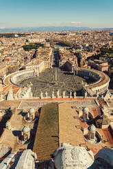 View from St. Peter's Basilica in the Vatican city, Rome, Italy - TAMF02166