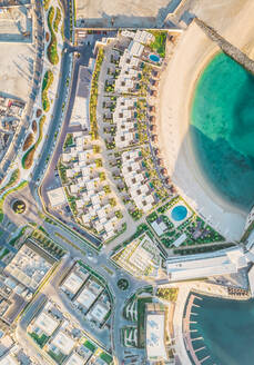 Aerial view of new buildings on Daria island in Dubai, U.A.E. - AAEF02855