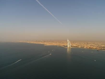 Aerial view of the luxurious Burj Al Arab Hotel in Dubai, United Arab Emirates - AAEF03236