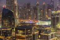 Burj Khalifa and Dubai Opera, Dubai, United Arab Emirates, Middle East - RHPLF01289
