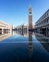Flooded St Mark's Square in Venice, Italy, Europe - RHPLF01676