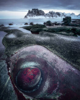 Dragon's Eye, Uttakleiv Beach, Lofoten Islands, Nordland, Norway, Europe - RHPLF01682