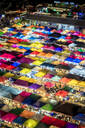 Colourful food stalls and tents at the Ratchada Night Train Market in Bangkok, Thailand, Southeast Asia, Asia - RHPLF01730
