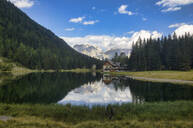 Lake Nambino and Brenta mountain range, Rendena Valley, Trentino, Italy, Europe - RHPLF01902