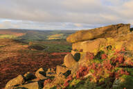 Higger Tor and Hathersage Moor, autumn sunrise, Peak District National Park, Derbyshire, England, United Kingdom, Europe - RHPLF02097