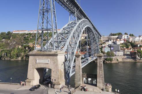 Ponte Dom Luis I Bridge, UNESCO World Heritage Site, Douro River, Porto (Oporto), Portugal, Europe - RHPLF02595