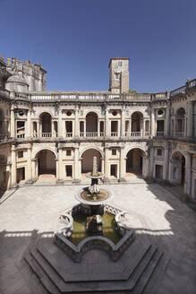 Convento de Cristi (Convent of Christ) Monastery, UNESCO World Heritage Site, Tomar, Santarem District, Portugal, Europe - RHPLF02631