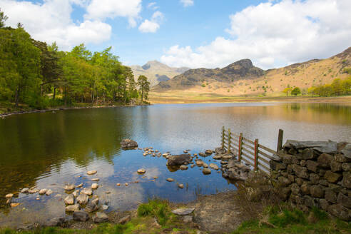 Blea Tarn, Little Langdale, The Lake District, UNESCO World Heritage Site, Cumbria, England, United Kingdom, Europe - RHPLF03212
