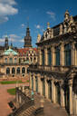 Internal courtyard of Zwinger Palace, completely rebuilt after World War 2 bombings, Dresden, Saxony, Germany, Europe - RHPLF03421