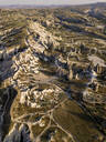 Aerial view of Dove complex monastery at Cappadocia, Turkey - KNTF03198