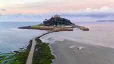 St. Michaels Mount, Marazion, Cornwall, England, United Kingdom, Europe (Drone) - RHPLF04632