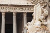 Fontana del Pantheon Fountain at Piazza della Rotonda Square, Pantheon, UNESCO World Heritage Site, Rome, Lazio, Italy, Europe - RHPLF04824