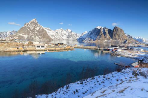 Village of Sakrisoy, Lofoten Islands, Nordland, Norway, Europe - RHPLF05010