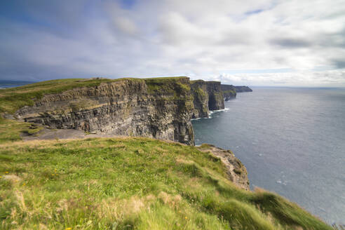 Cliffs of Moher, edge of the Burren region in County Clare, Munster, Republic of Ireland, Europe - RHPLF05532