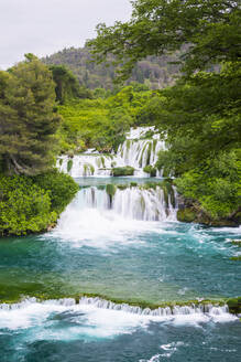 Waterfalls at Krka National Park, Croatia, Europe - RHPLF06096