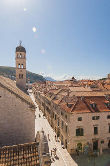 Old town from the city walls, UNESCO World Heritage Site, Dubrovnik, Croatia, Europe - RHPLF06114