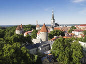 Cityscape view from the Patkuli viewing platform, Old Town, UNESCO World Heritage Site, Tallinn, Estonia, Baltic States, Europe - RHPLF06703
