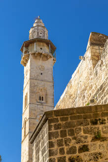 View of Mosque of Omar in Old City, Old City, UNESCO World Heritage Site, Jerusalem, Israel, Middle East - RHPLF07055