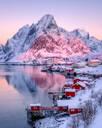Sunrise at Reine, Lofoten Islands, Nordland, Norway, Europe - RHPLF07319