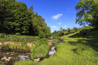 Lathkill Dale, near Over Haddon and Youlgreave (Youlgrave), spring, Peak District National Park, Derbyshire, England, United Kingdom, Europe - RHPLF07648