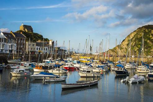 Boat harbour of Ifracombe, North Devon, England, United Kingdom, Europe - RHPLF07828