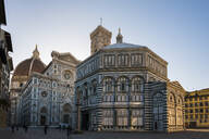 Santa Maria del Fiore cathedral and Battistero San Giovanni at sunrise, UNESCO World Heritage Site, Florence, Tuscany, Italy, Europe - RHPLF07888