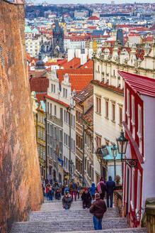 Zamecke Schody, Castle Stairs, Mala Strana, UNESCO World Heritage Site, Prague, Czech Republic, Europe - RHPLF08371