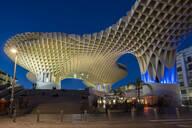 La Setas de Sevilla, Metropol Parasol is a wooden structure located at La Encarnacion square at sunset, Seville, Andalucia, Spain, Europe - RHPLF08575
