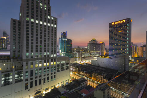 Elevated view of city skyline, Bangkok, Thailand, Southeast Asia, Asia - RHPLF08606