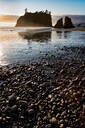 Evening light on Ruby Beach in the Olympic National Park, UNESCO World Heritage Site, Pacific Northwest coast, Washington State, United States of America, North America - RHPLF08681