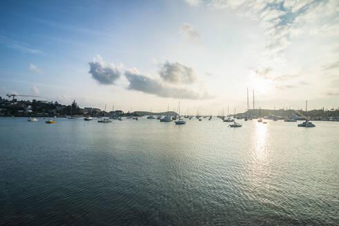 Little boats in the Magenta Port Sud, bay, Noumea, New Caledonia - RUNF02961
