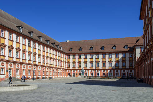 Exterior of Altes Schloss against clear blue sky, Bayreuth, Germany - LB02698